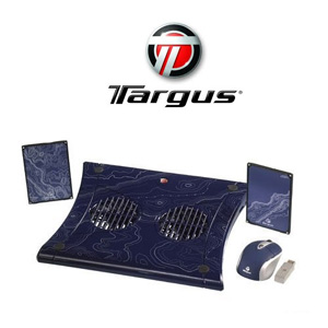 Targus Blue Laptop Accessory Bundle (Speakers, ChillMat and Wireless Mouse) - Refurb