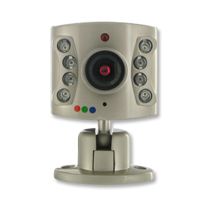 Wisecomm OC960 Mini Indoor Night Vision Color Security Camera with Audio and Adjustable Lens
