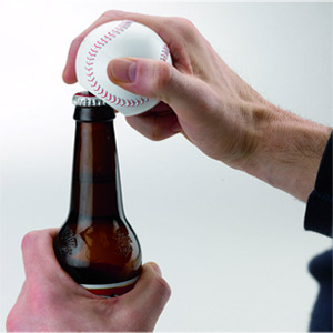 Sports Lover's Talking Baseball Bottle Opener