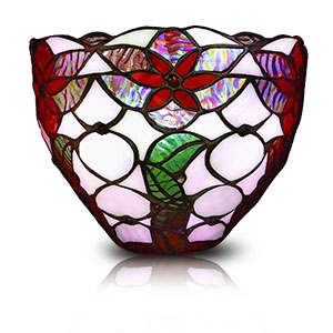 Exciting Lighting Wireless Ambiance Sconce - Festive Stained Glass
