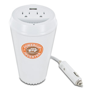 PowerLine PowerCup 200/400 Watt Mobile Inverter with USB Power Port