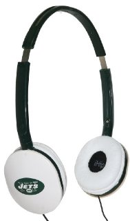 iHip NFL Officially Licensed Slim DJ Style Headphones - NY Jets