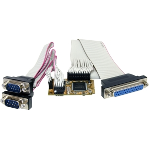 StarTech.com 2s1p Serial Parallel Combo Mini PCI Express Card for Embedded Systems - 2 x 9-pin DB-9 Male RS-232 Serial