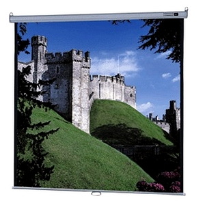 "Da-Lite Model B With CSR Manual Wall and Ceiling Projection Screen - 52"" x 92"" - Matte White - 106"" Diagonal"
