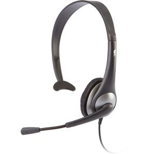 Cyber Acoustics AC-104 Headset - Mono - Mini-phone - Wired - 20 Hz - 20 kHz - Gold Plated - Over-the-head - Monaural - Semi-open - 7 ft Cable - Noise Cancelling Microphone