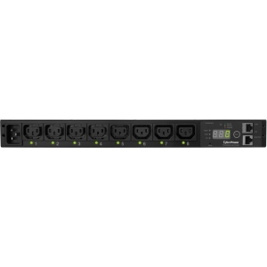 "CyberPower Switched PDU RM 1U PDU20SWHVIEC8FNET 20A 8-Outlet - 8 x IEC 60320 C13 - Zero U 19"" Rack-mountable, 1U 19"" Rack-mountable"