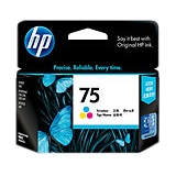 HP 75 Twin-pack Ink Cartridge - Cyan, Yellow, Magenta - Inkjet - 170 Page - 2 / Pack