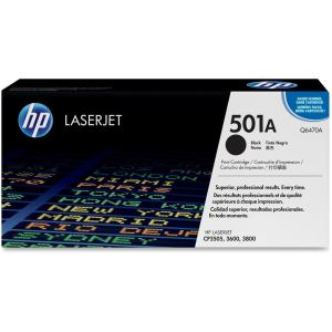 HP 501A Toner Cartridge - Black - Laser - 6000 Page - OEM