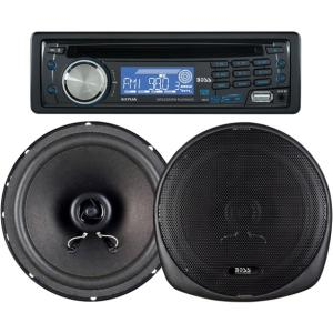 Boss 647CK Car CD/MP3 Player - 240 W RMS - iPod/iPhone Compatible - Single DIN - CD-R - MP3 - AM, FM - 30 x AM/FM Preset - Secure Digital (SD) Card - USB - Auxiliary Input