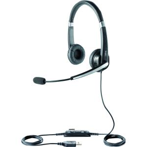 Jabra UC Voice 550 Duo Headset - Stereo - Black - USB - Wired - Over-the-head - Binaural - Semi-open - Noise Reduction, Noise Cancelling Microphone