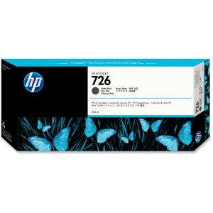 HP 726 Ink Cartridge - Matte Black - Inkjet - 1 Each