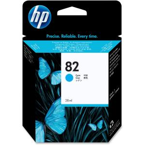 HP 82 Cyan Ink Cartridge - Inkjet - 1 Each