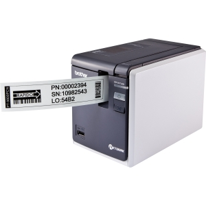 Brother P-touch PT-9800PCN Thermal Transfer Printer - Monochrome - Desktop - Label Print - 3.15 in/s Mono - 360 x 720 dpi - Fast Ethernet - USB