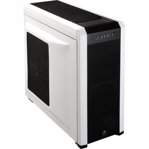 Corsair Carbide 500R System Cabinet - Mid-tower - Arctic White, Black - Steel, Plastic - 10 x Bay - 4 x Fan