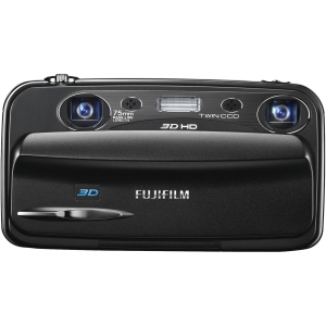 "Fujifilm FinePix W3 10 Megapixel 3D Compact Camera - Black - 3.5"" LCD - 3x/3x Optical Zoom - 3648 x 2736 Image - 1280 x 720 Video - HDMI - HD Movie Mode"