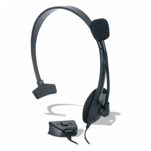 dreamGEAR DG360-1711 Headset - Mono - Black - Wired - Over-the-head - Monaural - Semi-open - 6 ft Cable