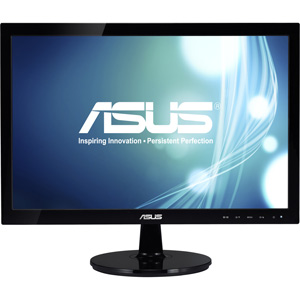 Asus VS197D-P 19&quot; LED LCD Monitor - 16:9 - 5 ms - Adjustable Display Angle - 1366 x 768 - 16.7 Million Colors - 250 Nit - 50000000:1 - VGA - Black - Energy Star, RoHS, WEEE
