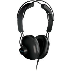 """Alesis DMPhones Headphone - Stereo - Piano Black - Wired - 32 Ohm - 18 Hz 20 kHz - Dynamic - Over-the-head - Binaural - Ear-cup - 79"""" Cable"""