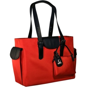 "WIB Liberator WIB-LIBDL7 Carrying Case (Tote) for 16.1"" Notebook - Red, Black - MicroFiber"