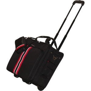 "WIB 17.3"" Notebook Travel Roller Black with Red Stripe - Roller - Top Loading - Handle , Shoulder Strap - 17.3"" Screen Support - Ballistic Nylon - Black"