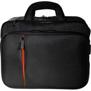 "ECO STYLE Luxe ELUX-TL14 Carrying Case for 15.6"" Notebook, Netbook, iPad - Black, Orange - Ethylene Vinyl Acetate (EVA)"