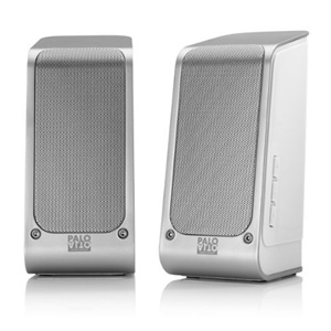 Palo Alto Audio Design SA110B 2.0 Speaker System - Silver, White - USB