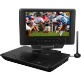 "Envizen Digital Quartet 9 ED8890A Portable DVD Player - 9"" Display - DVD-R, CD-R - JPEG, BMP - DVD Video, MPEG-2, Video CD, SVCD, MPEG-4, DivX, XviD, MPEG-1 - 16:9 - CD-DA, AC3, DVD Audio, HDCD, MP3, WMA, MP3Pro - USB - 2.50 Hour"