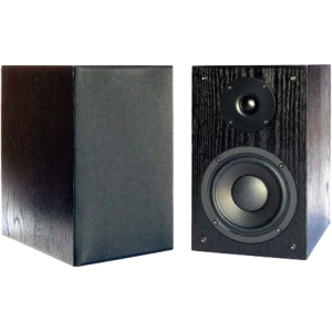 New Wave Audio BK-62 60 W RMS Speaker - 2-way - Black Oak - 48 Hz to 20 kHz - 8 Ohm - Bookshelf