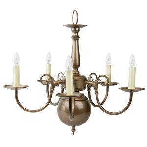 Liz Jordan Lighting 1211TM Topaz Mist Colony Mid Sized Chandelier from the Colony Collection