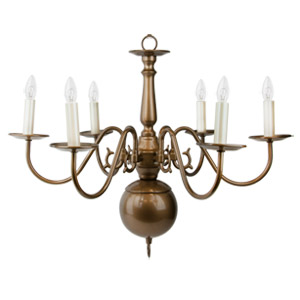 Liz Jordan Lighting 1365AM Amber Mist Colony Mid Sized Chandelier from the Colony Collection