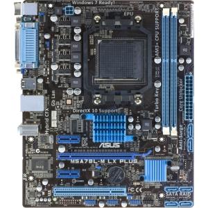 Asus M5A78L-M LX PLUS Desktop Motherboard - AMD - Socket AM3+ - Micro ATX - 1 x Processor Support - 8 GB DDR3 SDRAM Maximum RAM - Serial ATA/300 RAID Support Co