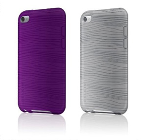 Belkin iPod Touch Grip Groove 2 Pack  (Gray & Purple)