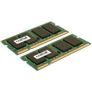 Crucial 8GB DDR2 SDRAM Memory Module - 8GB (2 x 4GB) - 800MHz DDR2-800/PC2-6400 - Non-ECC - DDR2 SDRAM - 200-pin SoDIMM