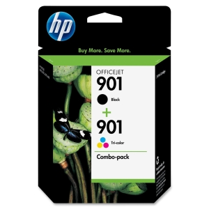 HP 901 Ink Cartridge Combo - Black, Cyan, Yellow, Magenta - Inkjet - 200 Page Black, 360 Page Color - 1 Pack