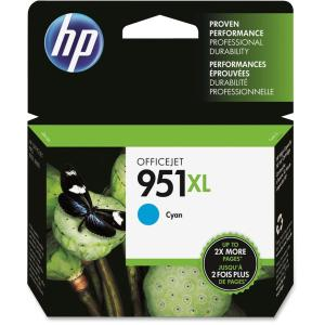 HP 951XL Ink Cartridge - Cyan - Inkjet - 1 Pack - Retail