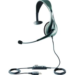 Jabra UC Voice 150 mono Headset - Mono - Gray - USB - Wired - Over-the-head - Monaural - Semi-open - Noise Cancelling, Noise Reduction Microphone