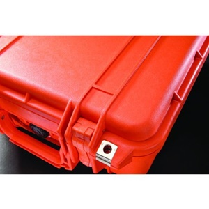 "Pelican 1450 Medium Shipping Case with Foam - 0.52 ft³ - Internal Dimensions: 10.18"" Width x 6"" Depth x 14.62"" Length - External Dimensions: 13.0"" Width x 6.9"" Depth x 16.0"" Length - Rubber - Orange"