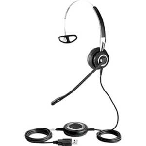 Jabra BIZ 2400 Headset - Mono - USB - Wired - Over-the-ear, Behind-the-neck, Over-the-head - Monaural - Semi-open - Noise Cancelling Microphone