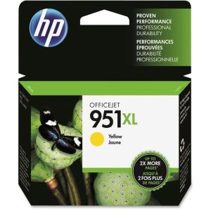 HP 951XL Ink Cartridge - Yellow - Inkjet - 1 Pack - Retail