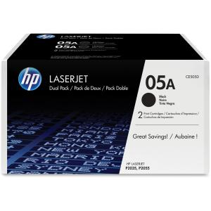 HP 05A Toner Cartridge - Black - Laser - 2300 Page - 2 / Pack