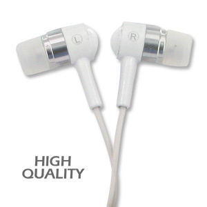 Noise Isolation HQ Metal Earbuds - White