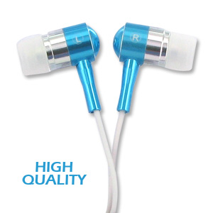 Noise Isolation HQ Metal Earbuds - Blue