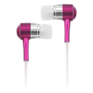 Noise Isolation HQ Metal Earbuds - Pink