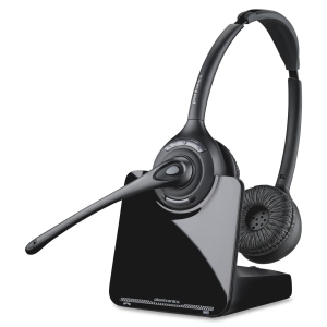 Plantronics CS520 Headset - Stereo - Wireless - DECT - 300 ft - Over-the-head - Binaural - Semi-open - Noise Cancelling Microphone