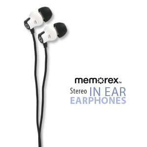 Memorex Stereo In-Ear Earbuds CB25