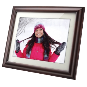 Viewsonic VFM1536-11 Digital Photo Frame - 15&quot; LCD Digital Frame - Wood - 1024 x 768 - Cable - 4:3 - JPEG - Slideshow - Built-in 256MB - Built-in MP3 Player, Video Player, Speaker - Yes - Yes - Desktop, Wall Mountable