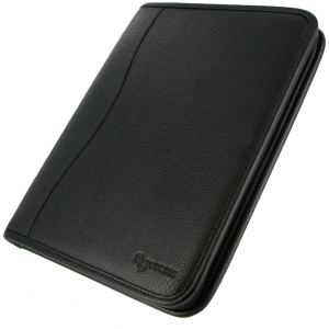 rooCASE Executive Leather Case Cover for Apple iPad 4 / The new iPad 3/2 - Black - Leather