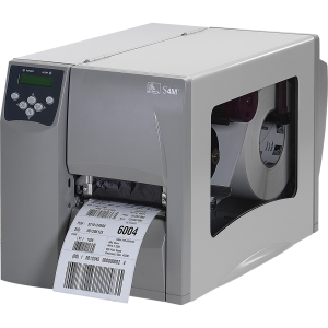 Zebra S4M Direct Thermal/Thermal Transfer Printer - Monochrome - Desktop - Label Print - 6 in/s Mono - 300 dpi - Fast Ethernet - USB - LCD