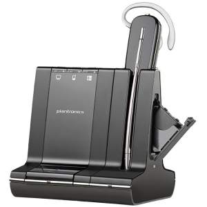 Plantronics Savi W745 Earset - Mono - Wireless - DECT - 350 ft - Over-the-ear, Over-the-head, Behind-the-neck - Monaural - Open - Noise Cancelling Microphone