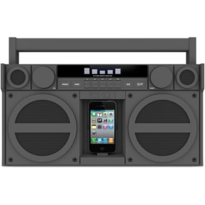 iHome iP4 Speaker System - Gray - SRS TruBass - iPod Supported